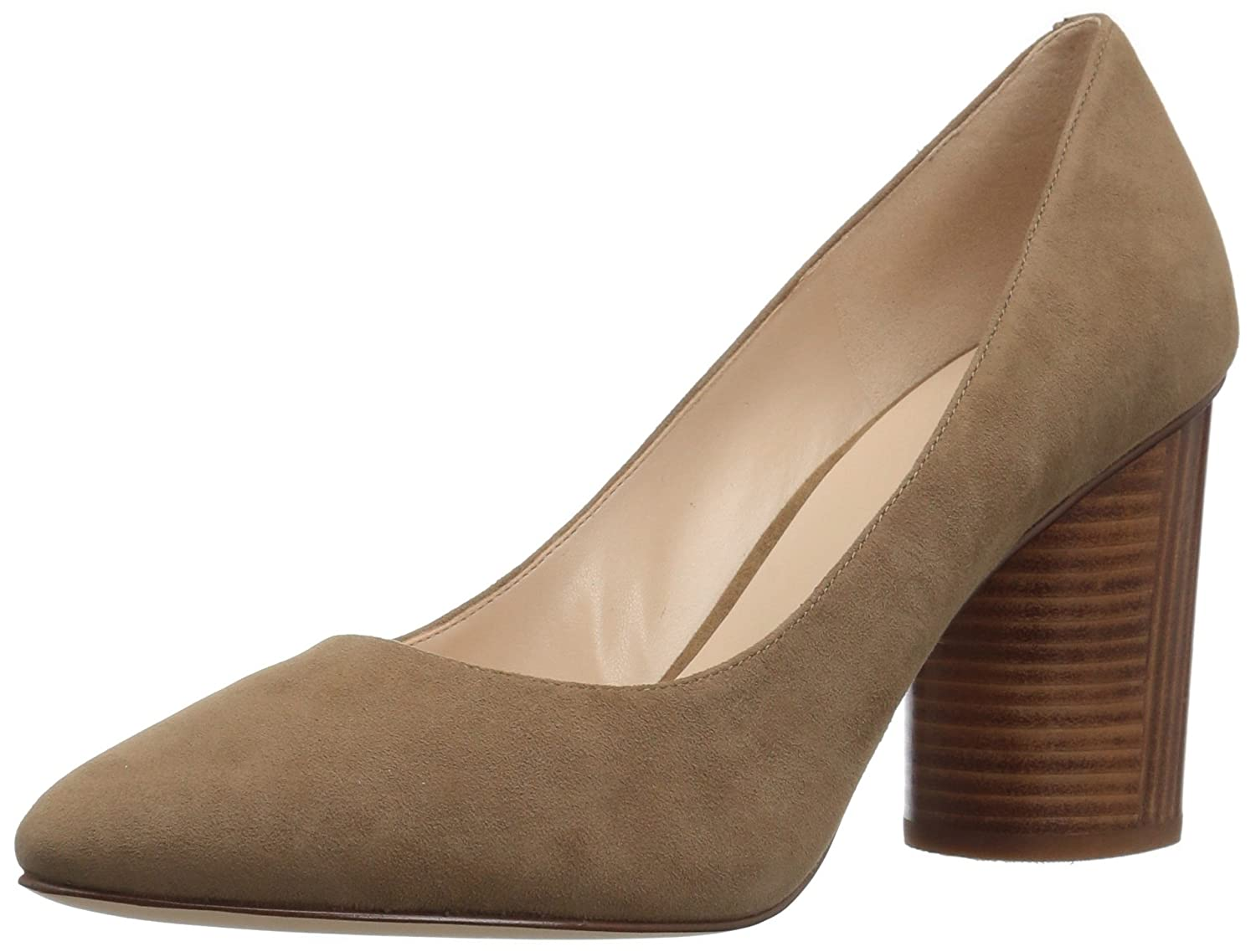 Nine West Women's Cardya Leather Pump B06VV3T43G 8 B(M) US|Green Suede