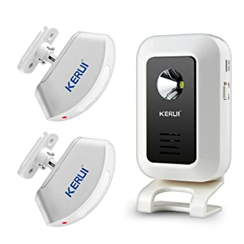KERUI - Timbre inalámbrico para Puerta de Bienvenida, 2 detectores de Sensor de Movimiento,