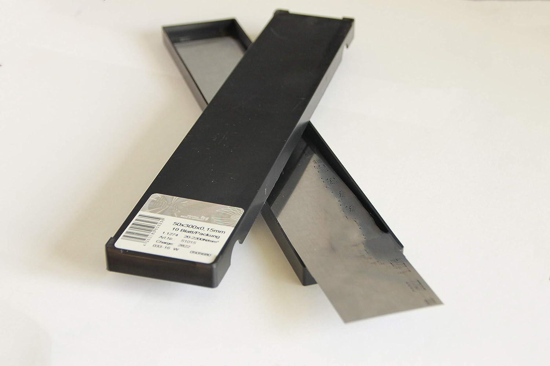 Clinquant acier XC100 feuille 25X300 epaisseur 0,01 mm