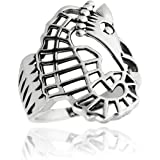 Sterling Silver Seahorse Ring, Sizes 5-10