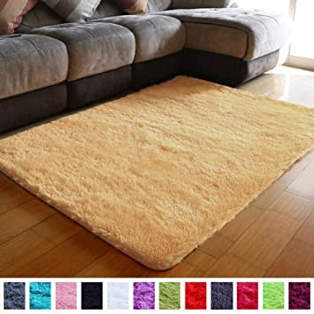 PAGISOFE Super Soft Shaggy Accent Area Rug Plush Rugs Carpets for Living  Room Bedrooms Kids Nursery Home Decor Fluffy Shag Dining Floor Carpets  Silky ...