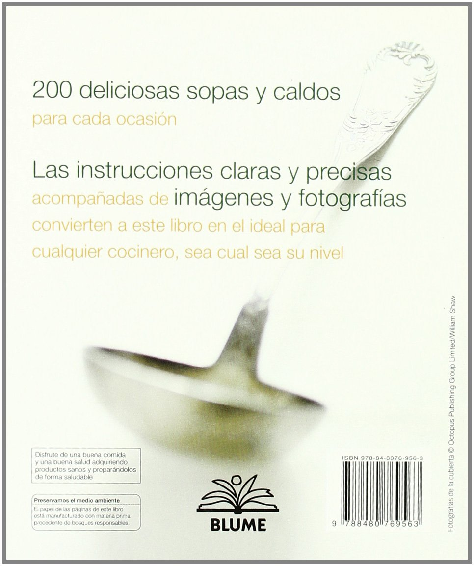200 sopas y caldos (200 Recetas) (Spanish Edition): Sara Lewis:  9788480769563: Amazon.com: Books