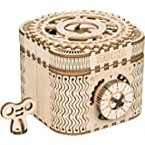 ROKR 3D Assembly Wooden Puzzle DIY Crafts Kit Fun Creative DIY Toy Treasure Box Brain Teaser Mechanical Engineering Model Bui