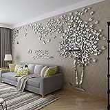 kenmont 3d diy huge couple tree wall decals crystal acrylic wall