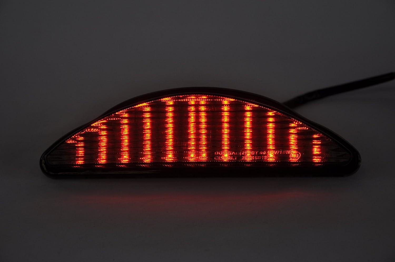 LED Brake Tail Light Integrated Turn Signal For YAMAHA 2008-2017 Raider Smoke