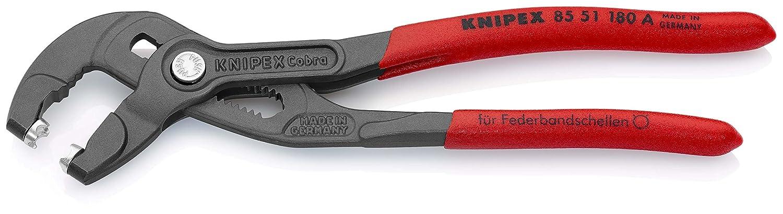 Knipex Muelle bandschellen de alicate, longitud en mm: 190, 1 pieza, 85 51 180 A: Amazon.es: Bricolaje y herramientas
