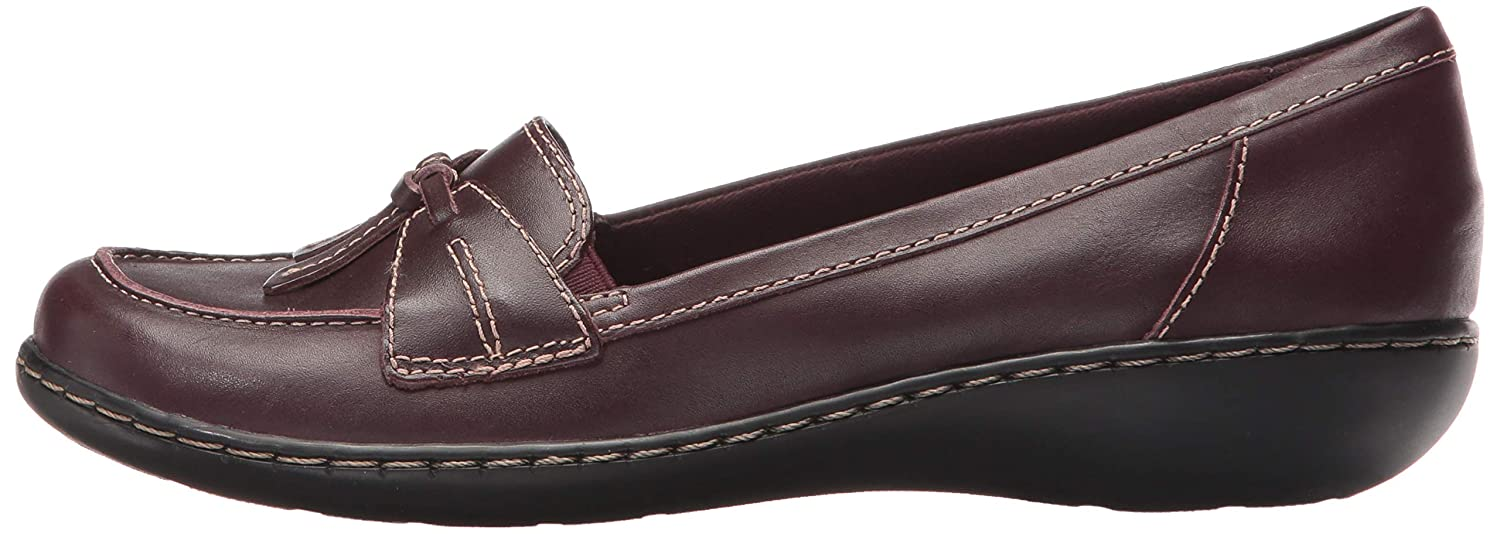 CLARKS Womens Ashland Bubble Burgundy Patent Leather 10 A US