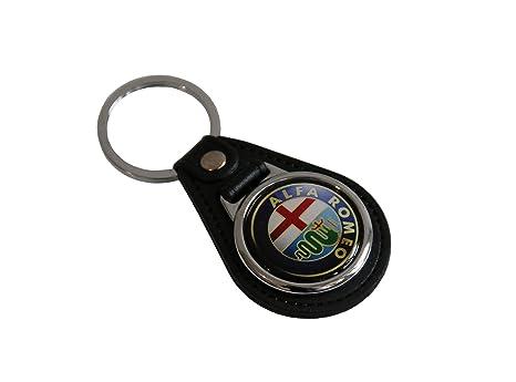 ALFA ROMEO Diseño Piel llavero Car Logo Key Fob: Amazon.es ...