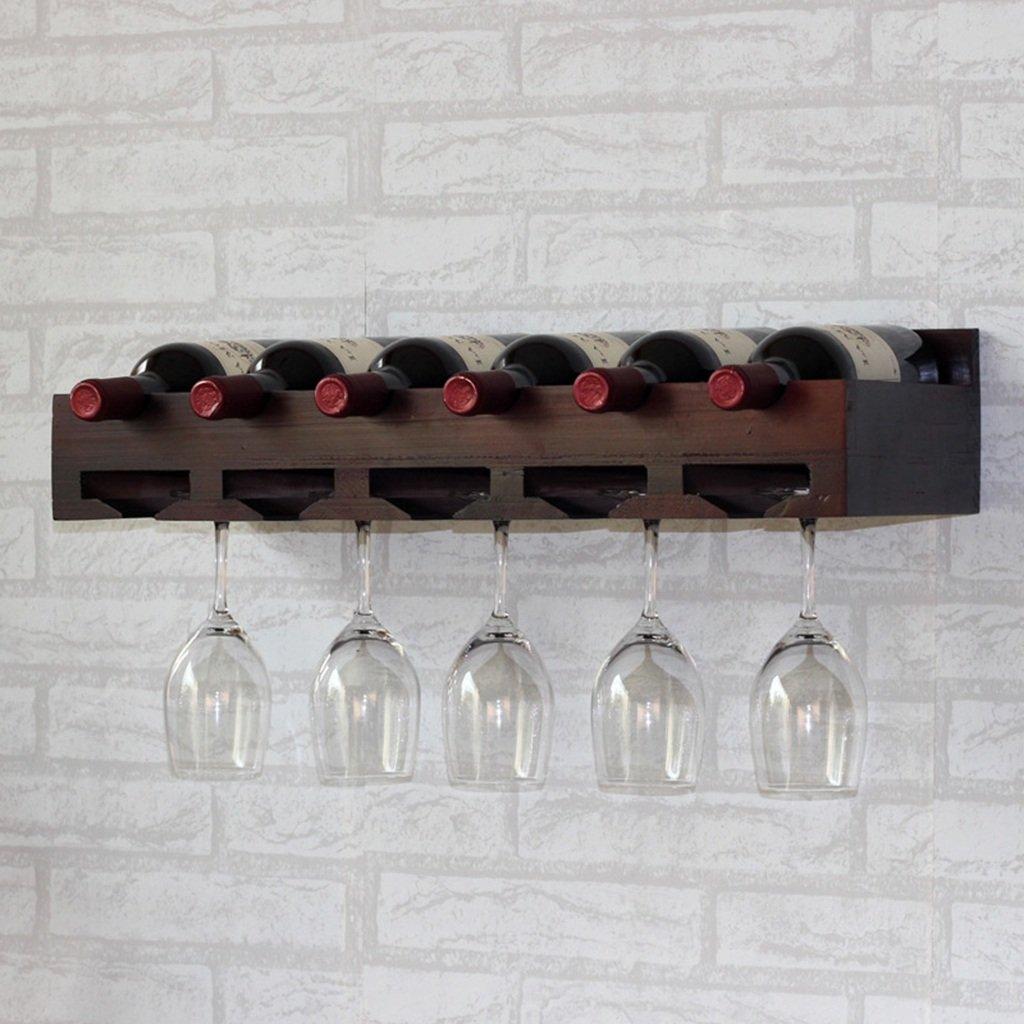 RLGHJJ HJHY Estante para Vino, Colgante de Pared de Madera Maciza Soporte para Exhibición de Vino Soporte para Copa de Vino Tinto al Revés Estanterías para Beber del hogar Tienda/Inicio/Bar HAOJIAHAOYE
