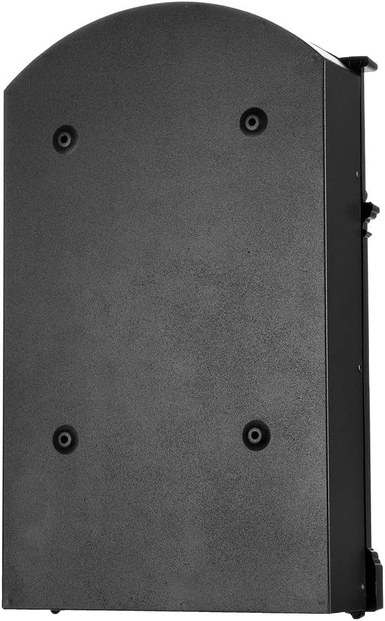 Aluguss und Stahl ca Rot Melko Retro Briefkasten mit A4 Einwurf-Format 25,5 x 8,6 x 41 cm