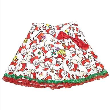 Lenfesh_Vestidos Falda de Navidad para Mujer, Corto Navidad Papá ...