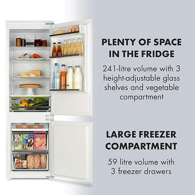 Klarstein Coolzone • combinación nevera y congelador • frigo ...