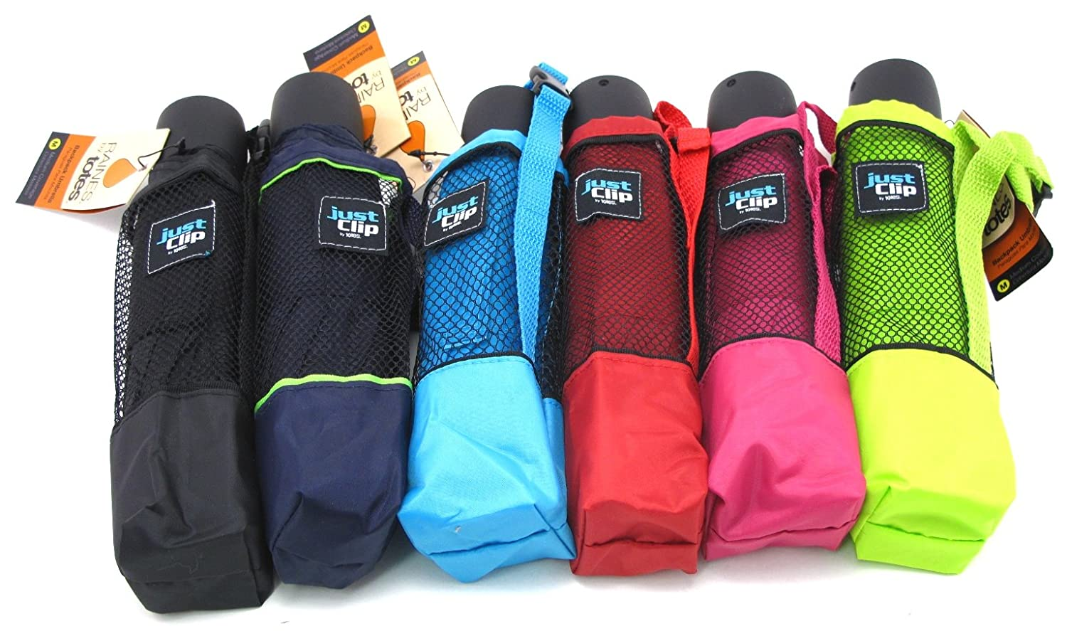 Amazon.com: Raines Umbrella Just Clip Back Pack 9 Inch Med (Assorted Colors): Clothing
