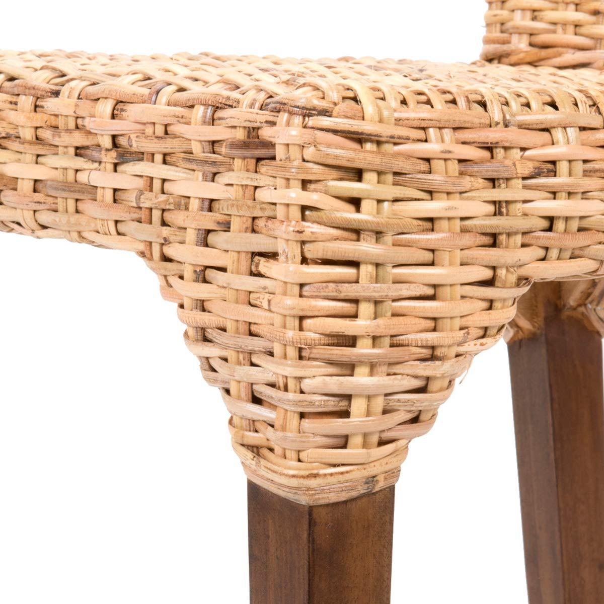 Rebajas : -54% Lote de 2 sillas de Ratan de Comedor Vitor ...