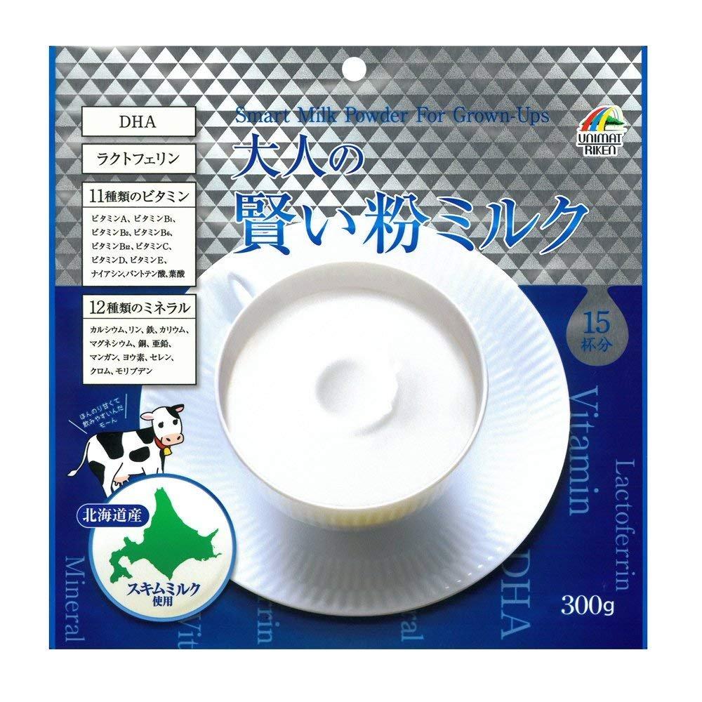 【6個セット】ユニマットリケン 大人の賢い粉ミルク 300g B07F11PXWT