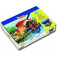 JOVI 152818 - Caja de 12 botes de tempera escolar de 35 ml, gel licuado en colores vivos, colores surtidos, 1 unidad