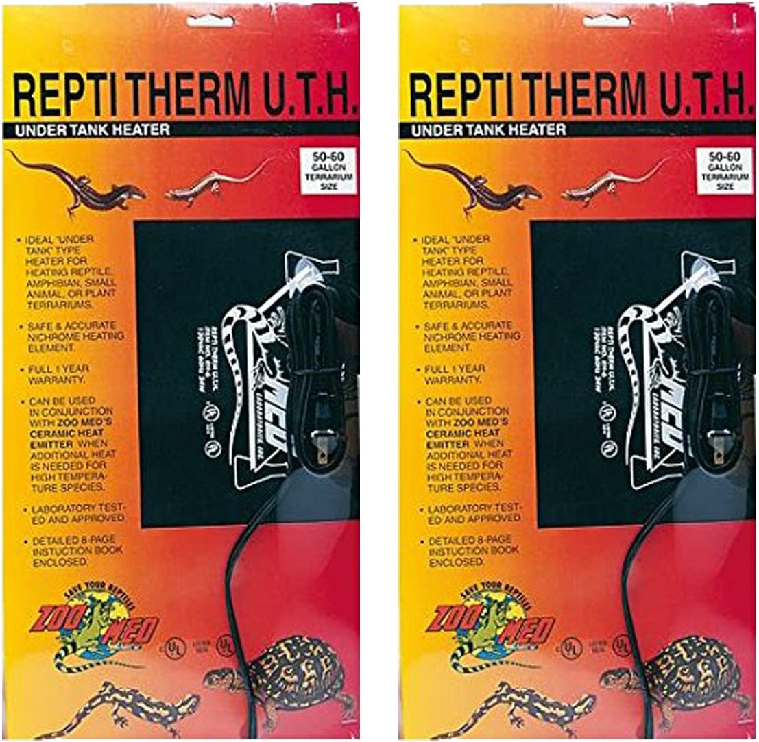 Zoo Med ReptiTherm Under Tank Heater, 30-40 Gallon (2 Pack)