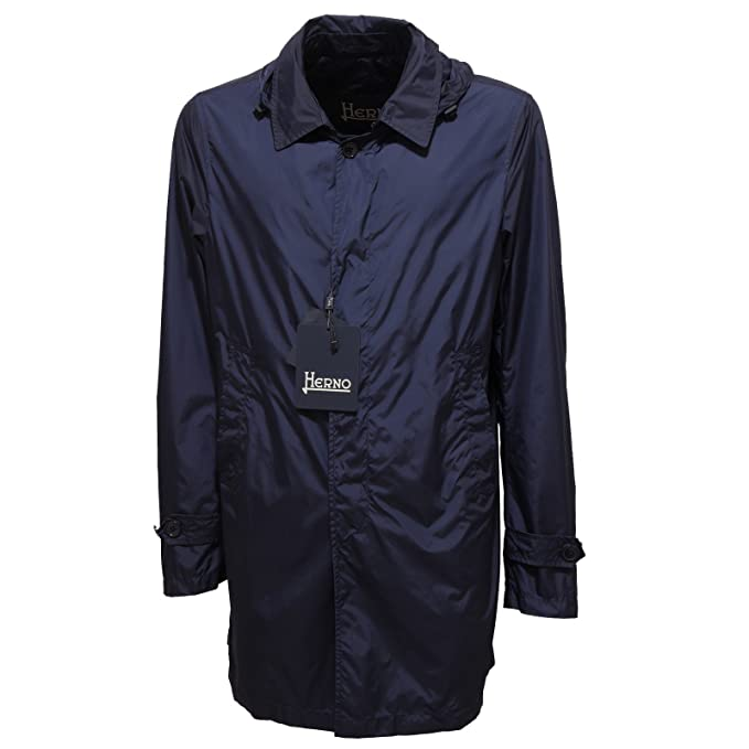 2808Q trench uomo giaccone blu HERNO jacket men [54]: Amazon.es: Ropa y accesorios
