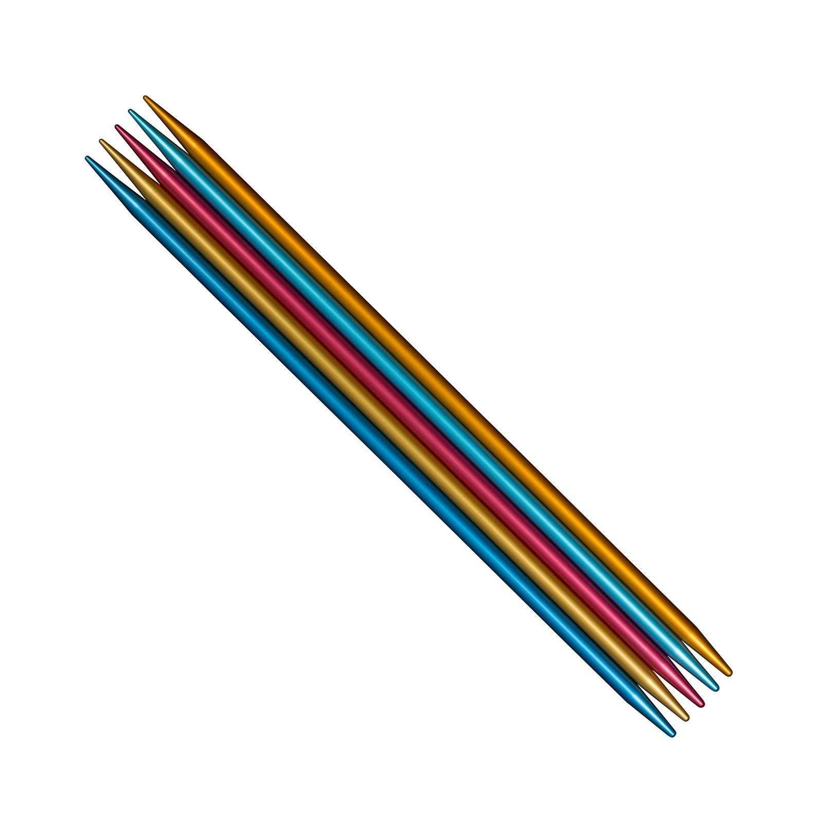 addi Colibri (FlipStix) Double-pointed Needles Full Set of All 15 Sizes (US0 - US11), all in all 75 Needles (6 Inch)