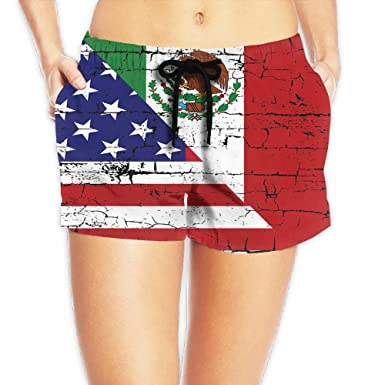 Combo Zq Usa Leisure South Boardshorts Bathing Summer Flag Mexico 0vmwONn8