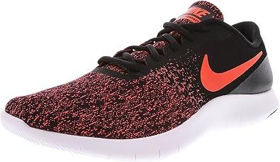 nike uomini flex contatto nero / totale crimson palestra red caviglia alta scarpa da corsa
