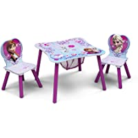 Delta Children Table and Chair Set with Storage, Disney Frozen