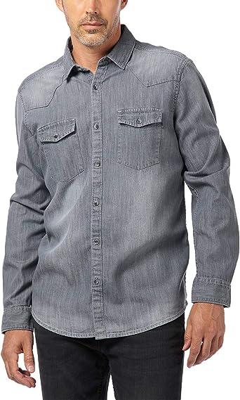 Pioneer Shirt L/S Denim Camisa Vaquera para Hombre: Amazon.es: Ropa y accesorios