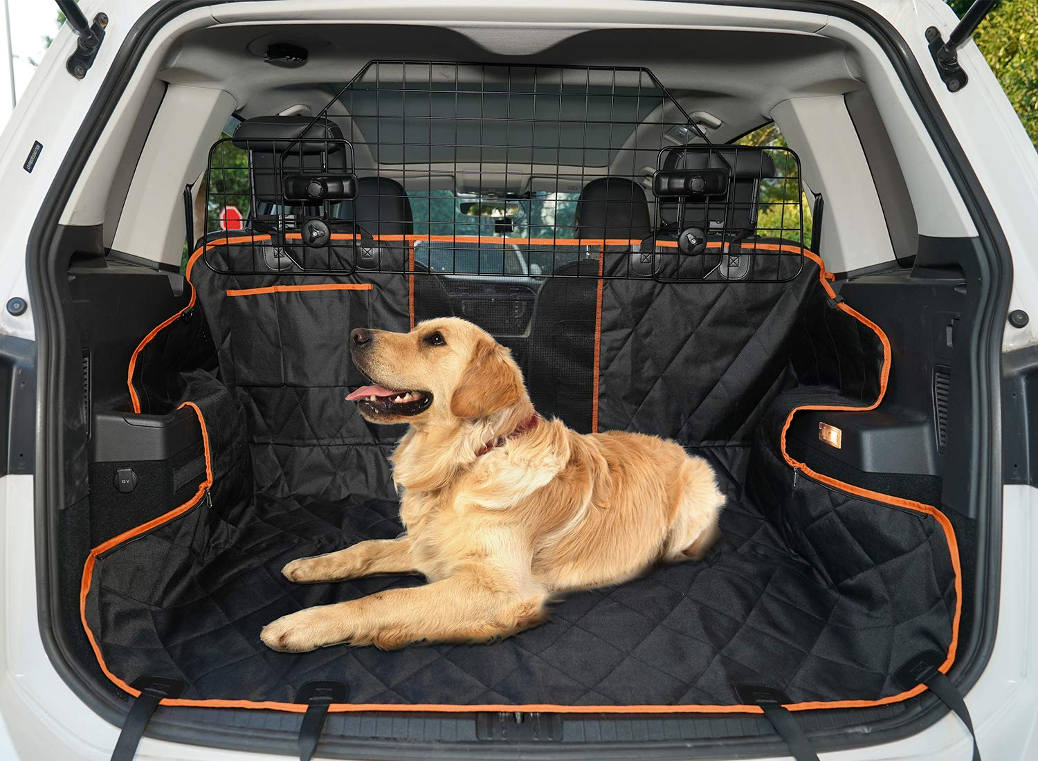 SUKI&SAMI Dog Car Barrier Adjustable Pet Barrier for SUVs,Cars and Vehicles,Heavy Duty Wire Adjustable,Smooth Design,Black by SUKI&SAMI (Image #7)
