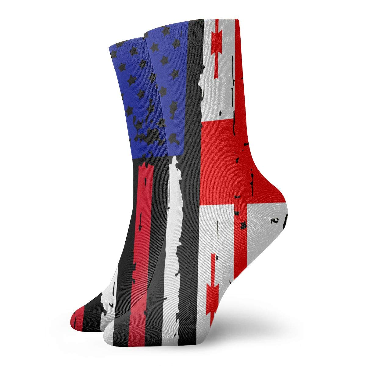 Women Men Georgia American USA Flag Pride Athletic Ankle Socks