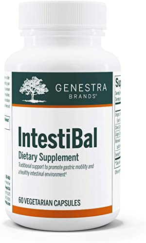 Genestra Brands – IntestiBal – with Essential Oils from Ginger and Wormwood – 60 Capsules