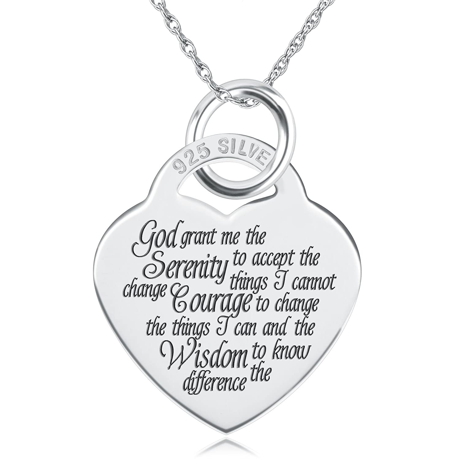 dp and chain lord serenity steel aoiy unisex s pendant medallion laoyou lords verse prayer cross necklace stainless mens christian bible