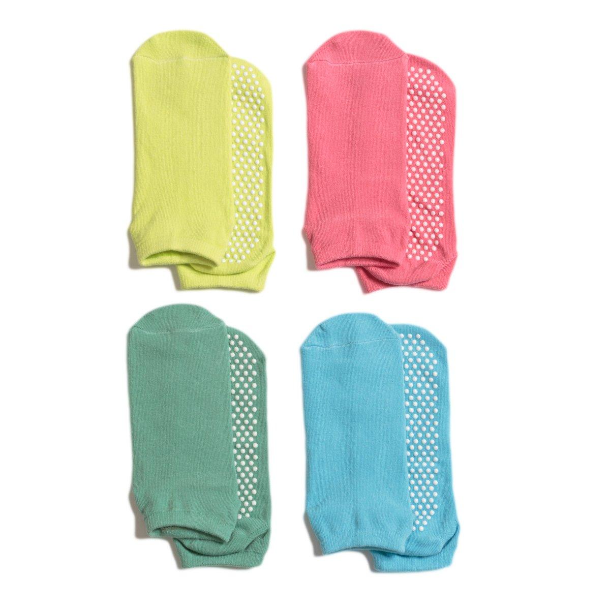 LIBRUONE Yoga Socks Non Slip Skid Pilates Barre Ballet Socks with Grips Cotton for Women