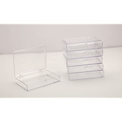 "Clear Hinged Plastic Trading Card Storage Box 3 1/2"" L x 2 9/16"" W x 5/8"" H - 10 Pieces Per Pack: Arts, Crafts & Sewing"