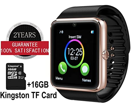 GT08 Bluetooth Reloj inteligente con cámara para Samsung S4/S5/Nota 2/3