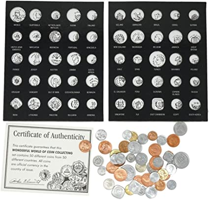 Coin Collection of 50 Unique Coins from around the world