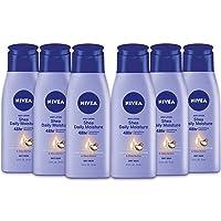NIVEA Shea Daily Moisture Body Lotion - 48 Hour Moisture For Dry Skin - 2.5 fl. oz. Bottle (Pack of 6)