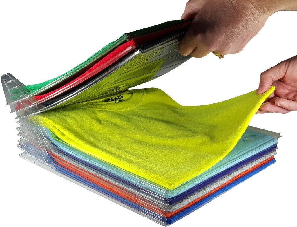 Organizador De Armario Ezstax Y Doblador De Camisas | Tamaño Regular, Paquete De 20