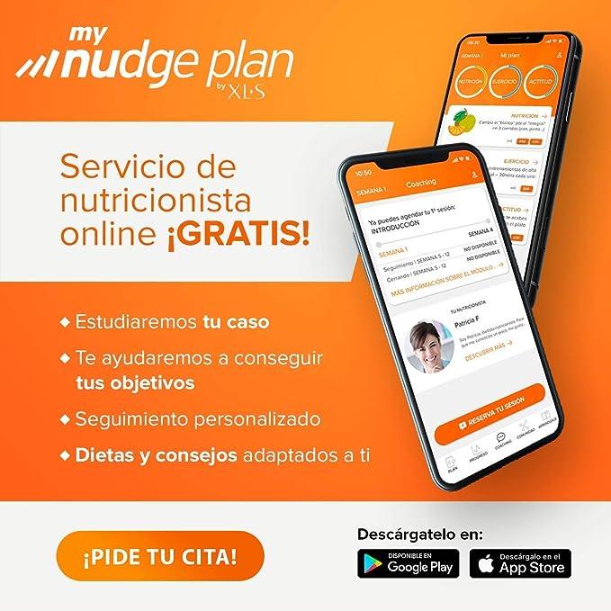 XLS Medical Forte 5 + Plan Nudge & Servicio Nutricionista Gratis, Origen Natural 100% Vegano, 1 Mes, 180 Cápsulas