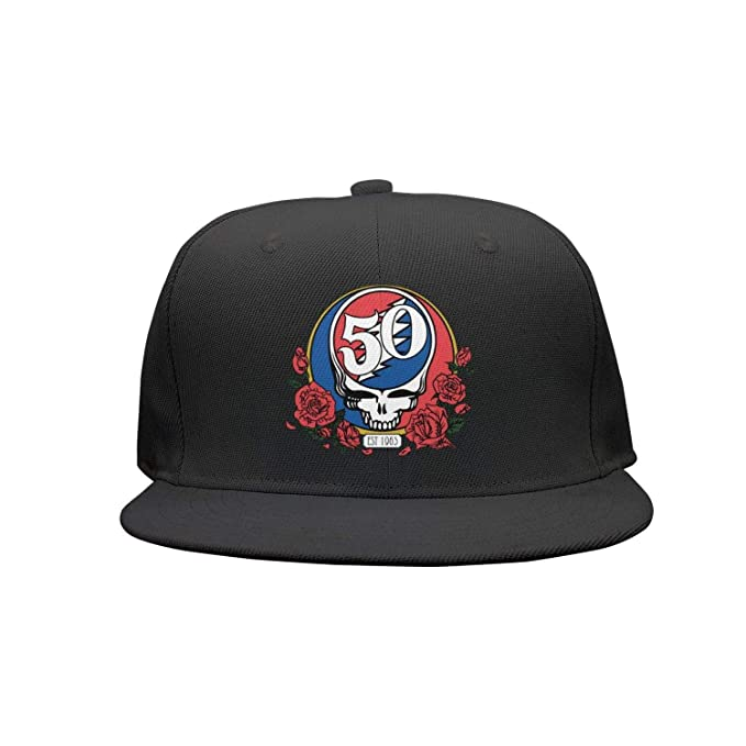 aae8928450f Image Unavailable. Image not available for. Color  Grateful-Aesthetic-Dead- Solo-th-Anniversary- Snapback Trucker Cap for