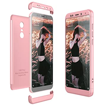 CE-Link Funda Xiaomi Redmi 5 Plus Carcasa Fundas para Xiaomi Redmi 5 Plus 360 3 en 1 Desmontable Ultra-Delgado Anti-Arañazos Case Protectora - Oro ...