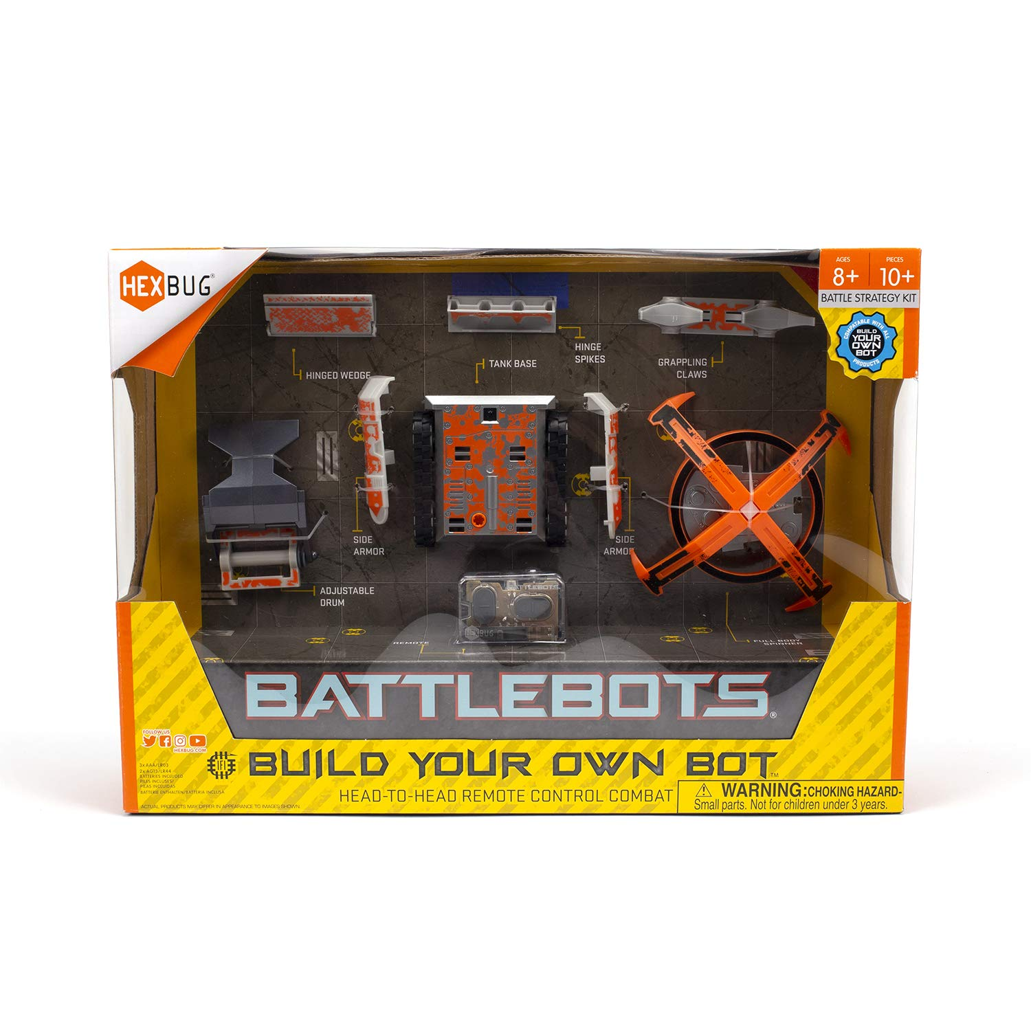HEXBUG BattleBots Build Your Own Bot Tank Drive, Toys for Kids, Fun Battle Bot Hex Bugs by HEXBUG (Image #5)