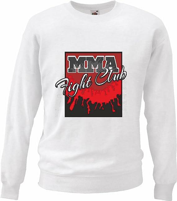 Sudaderas Suéter MMA Fight Club Arte Material Mezclado Fightclub Lucha de la Calle de Karate Boxeo Kick Boxing Judo en Blanco: Amazon.es: Ropa y accesorios