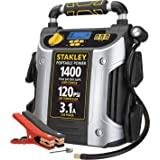 STANLEY J7C09D Digital Portable Power Station Jump Starter: 1400/700 Instant Amps, 120 PSI Air Compressor, 3.1A USB Ports, Ba