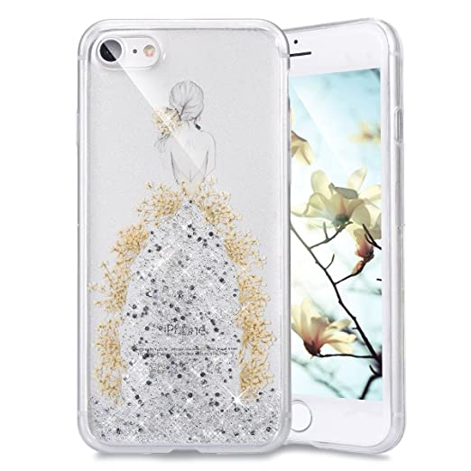 14 opinioni per Ukayfe Elegante e Leggera Custodiai per iPhone 7/8, Crystal Case Design fiori