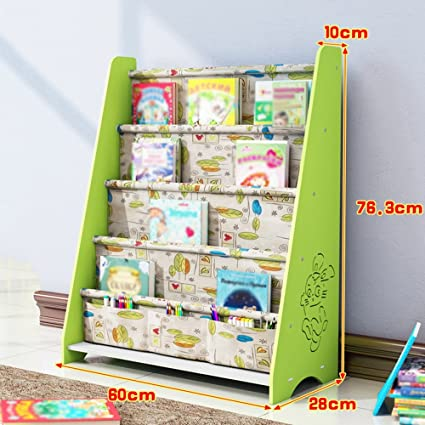 Fashion Home ZHILIAN Bookshelf Cartoon Shape Floor Stand Alone Childrens Storage Rack