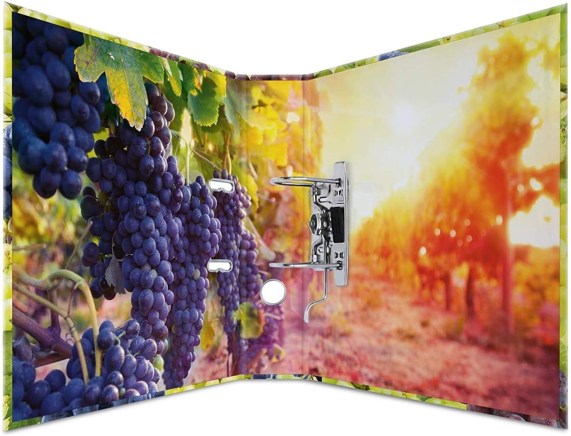 HERMA 7111 Motiv-Ordner DIN A4 Früchte Trauben 7 cm breit Aktenordner Ringordner
