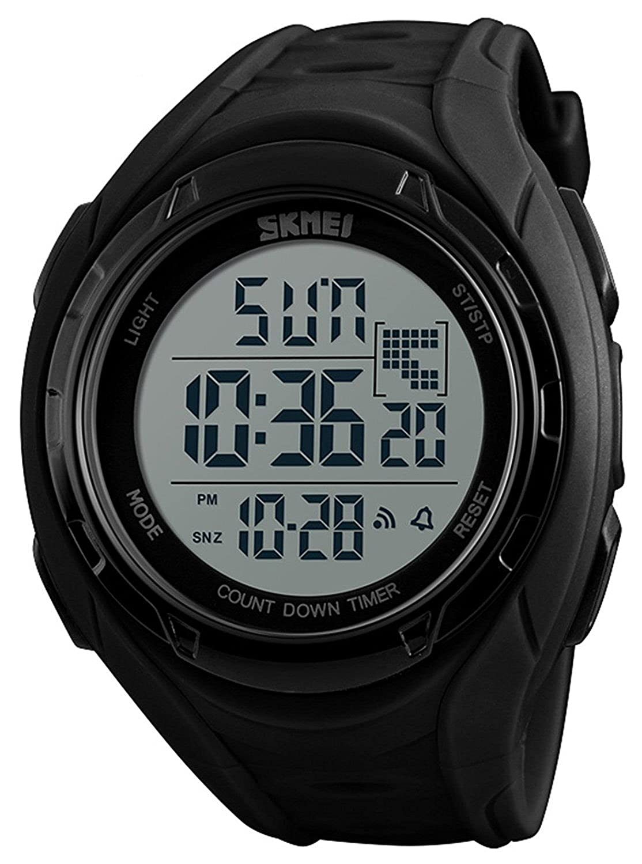 アウトドアスポーツウォッチメンズカウントダウンクロノグラフ腕時計アラーム防水デジタル腕時計 B078M22Z1W