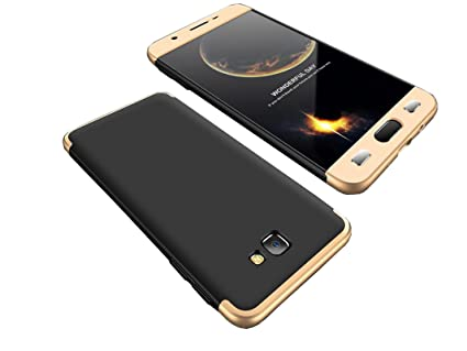 Bounceback ® Samsung Galaxy J7 Prime 2 Cover Case 3 in1 360º Anti Slip  Super Slim Back Cover for Samsung Galaxy J7 Prime 2 (Black & Gold)
