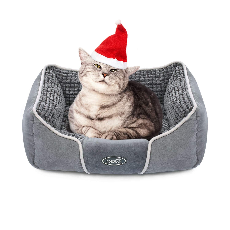 Pecute Cama de Perros y Gatos Básica Cama de Suave Gamuza para Perros y Gatos de