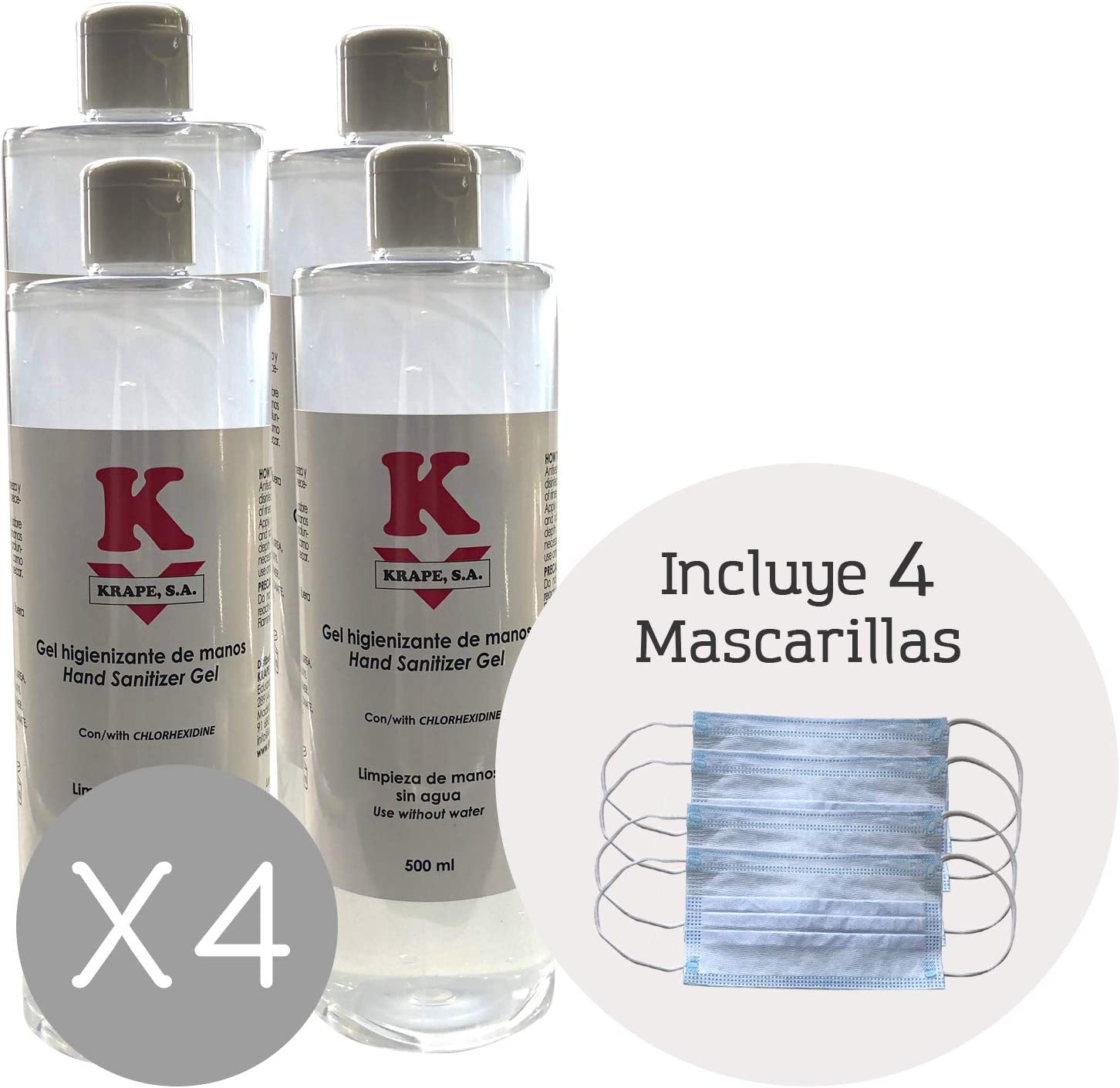 Gel Antibacterial-hidroalcoholico Betafar 4x500 ml'